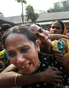 Bangladesh fire grief